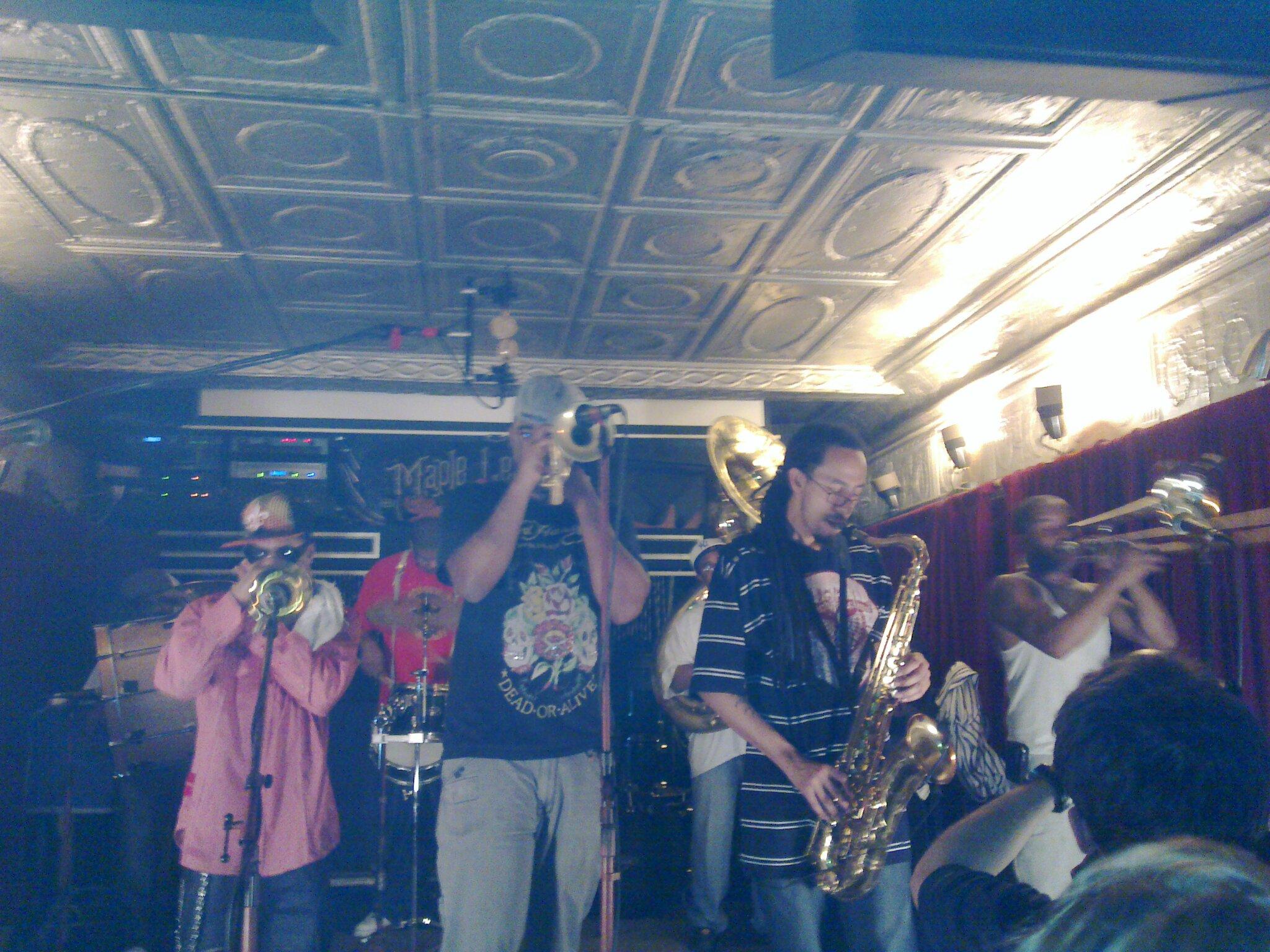 Rebirth Brass Band @ Maple Leaf, New Orleans Feb 15 2011. Photo by Mikko Karjalainen