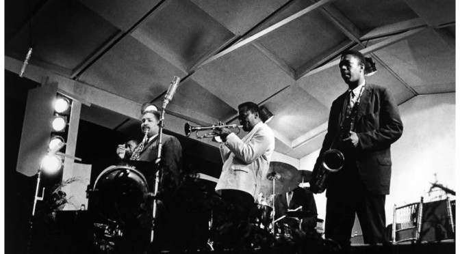 "The first ""classic"" Miles Davis Quintet at the New Port Jazz festival 1958. Photo by Dennis Stock"