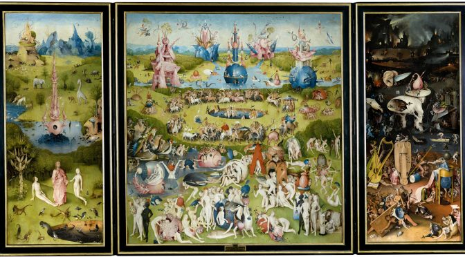 Multimediality of Hieronymous Bosch's Garden of Earthly delights