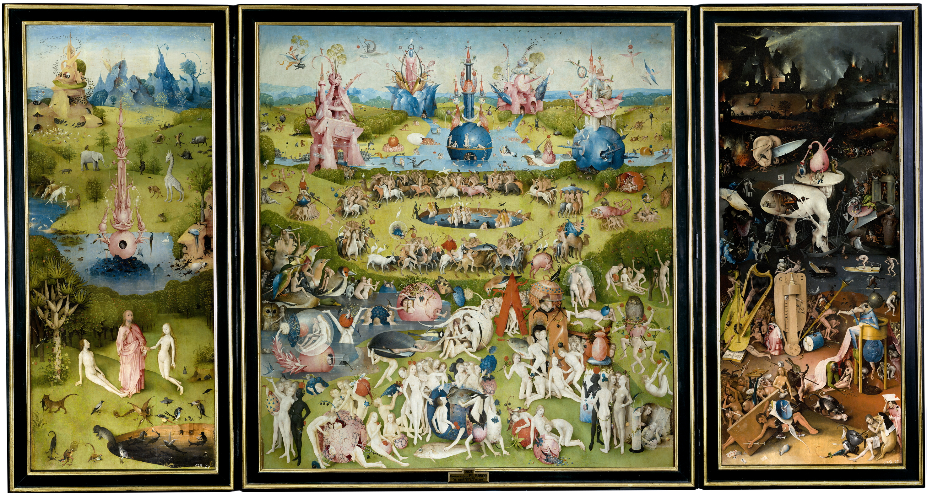Multimediality of Hieronymous Bosch's Garden of Earthly pleasures