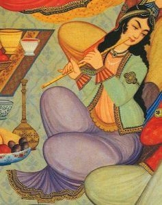 Painting from Hasht-Behesht palace, Isbahan, Iran, from 1669